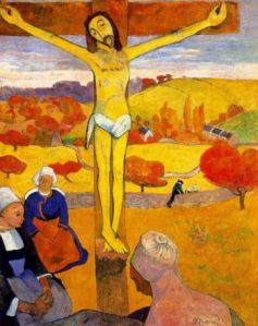 'The Yellow Christ' by Gauguin - significantly painted in 1889 and depicting Breton women praying...